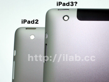 High-res Sharp display, backplate and dock connector get assembled into a slightly thicker iPad 3