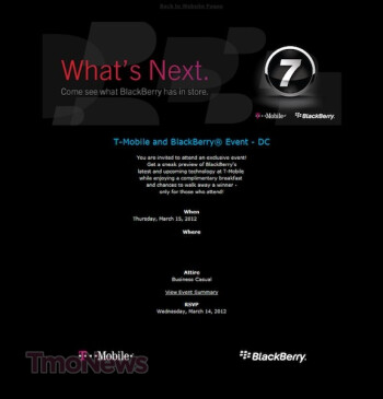 RIM showing what's next for BlackBerry on March 15th