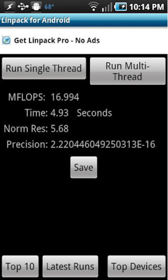 Linpack for Android