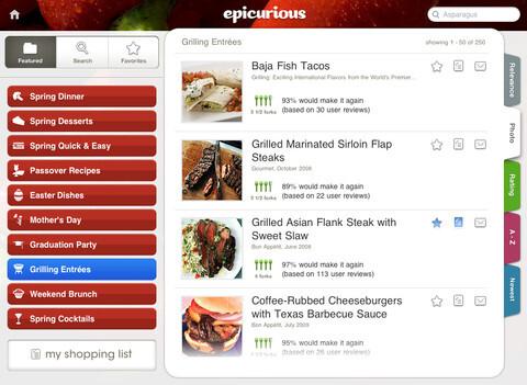 Epicurious Recipes & Shopping List (Free)
