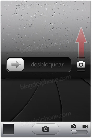 A leaked screenshot allegedy of iOS 5.1 shows a permanent camera button on the lock screen (L) and a Japanese-speaking Siri (R)