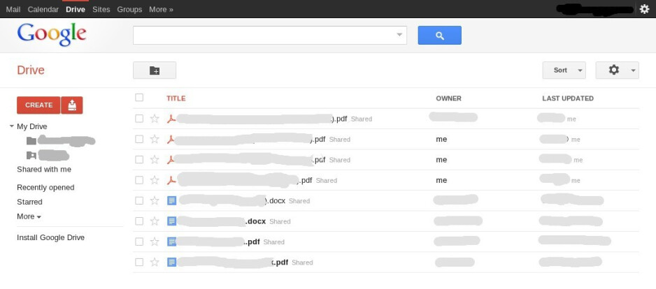 Google Drive cloud storage up for some users, seems integrated with other Google services