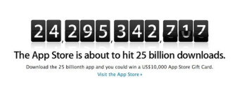 Win a $10,000 gift card for the 25 billionth App Store download