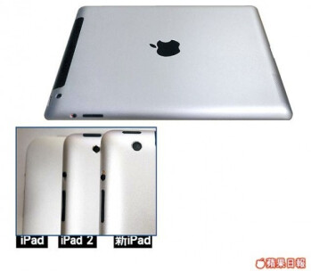 Leaked photo allegedly of Apple iPad 3 rear cover