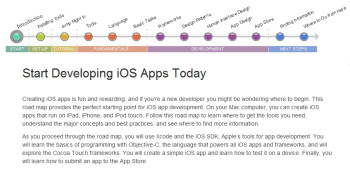 """Apple outs guidelines for creating iOS apps to go with its """"Your First iOS App"""" manual"""