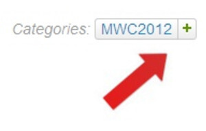 To Follow our MWC 2012 coverage, click the plus sign next to the MWC2012 tag, located under the headline