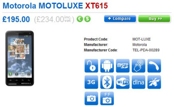 Motorola MOTOLUXE launches a tiny bit earlier than expected in the UK for $371 (£234) no-contract