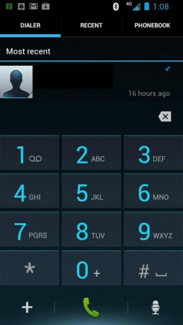 Blurred ICS Dialer
