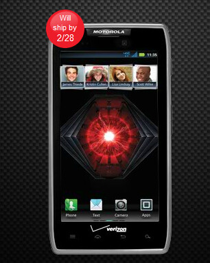 On backorder is the Motorola DROID RAZR MAXX