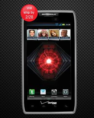 On backorder is the Motorola DROID RAZR MAXX