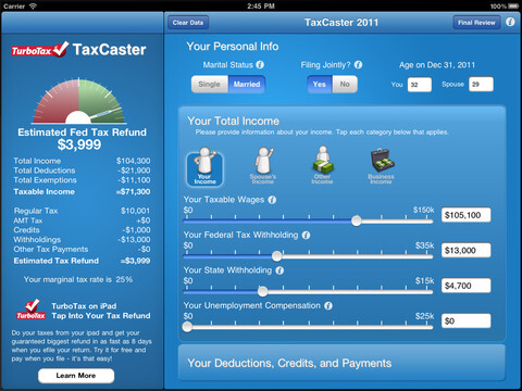 TaxCaster Mobile (free)