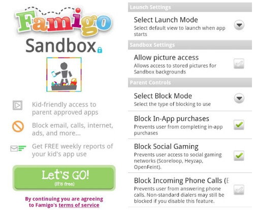 Famigo Sandbox