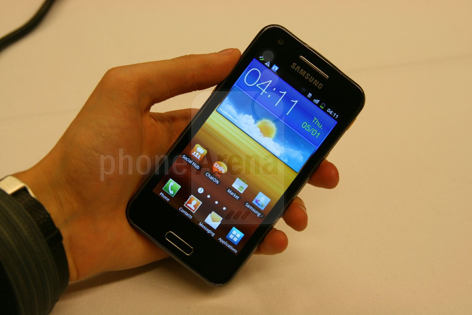 Samsung Galaxy Beam Hands On Review Phonearena Reviews