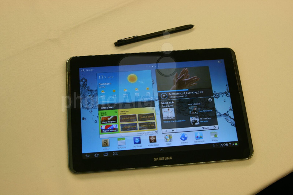 Samsung Galaxy Note 10.1 Hands-on Review