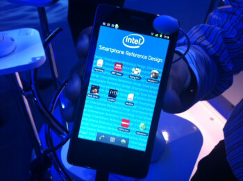 Reference model of Intel powered smartphone displayed at CES
