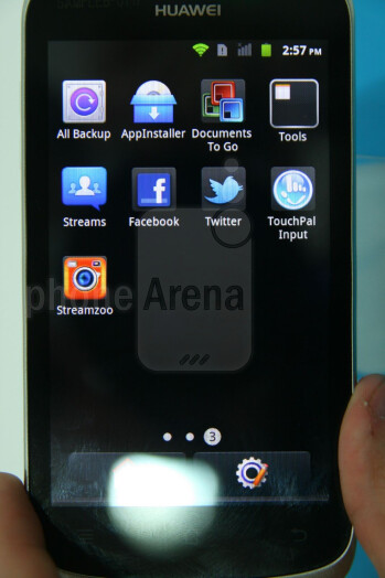 The Huawei Ascend G300 has a 4-inch WVGA display
