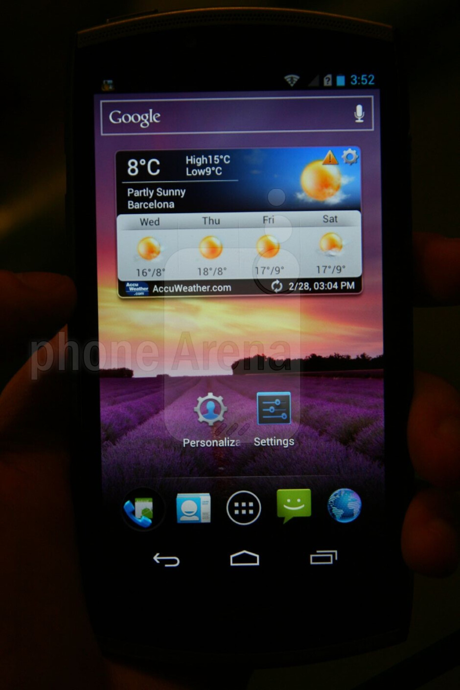 Interface - Acer CloudMobile Hands-on Review