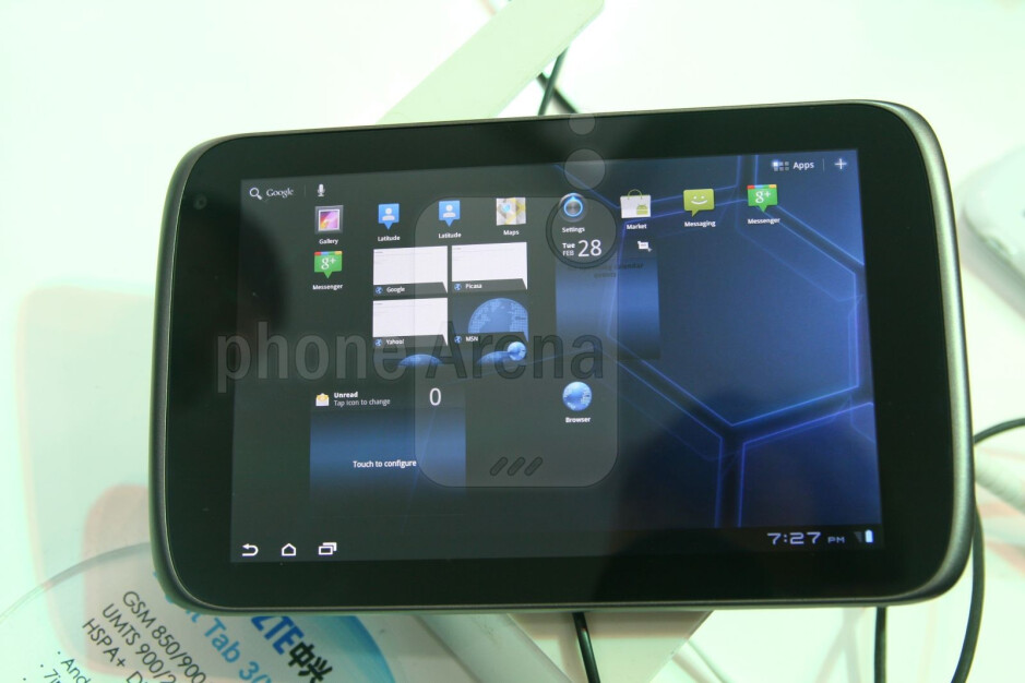 The ZTE Light Tab 300 feels relatively solid - ZTE Light Tab 300 Hands-on Review