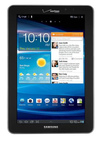 Samsung Galaxy Tab 7.7 arriving exclusively on Verizon Wireless on March 1st