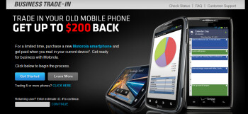 Motorola wants more  Business Ready customers willing to sell their old phone to Motorola for as much as $200