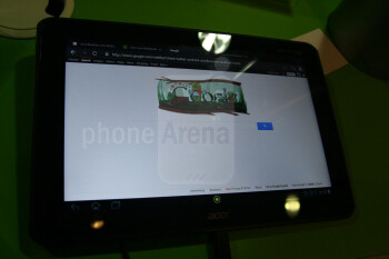The Acer Iconia Tab A700 runs Android 4.0 Ice Cream Sandwich