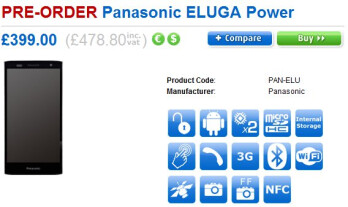 Preorders for the Panasonic ELUGA Power are now a go in the UK