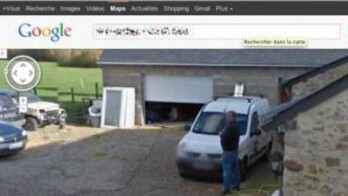 Google Street View photo shows Frenchman peeing on his own property