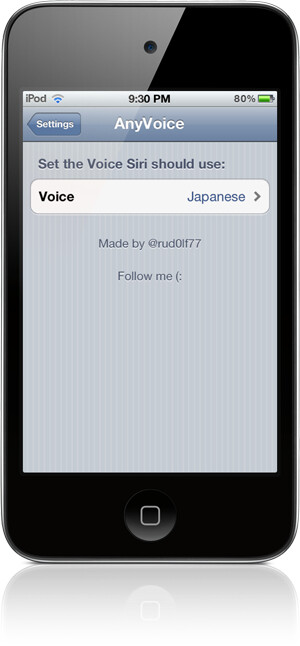 AnyVoice adds more than 40 accents to Siri
