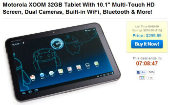 Motorola XOOM 32GB Wi-Fi is on the cheap for today only at $299