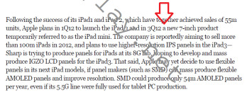 Document says 7 inch Apple iPad mini is coming in Q3