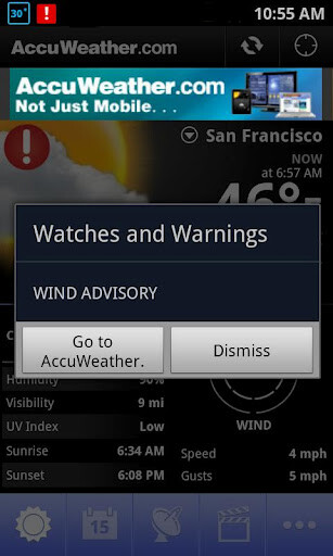 Accuweather app android not updating