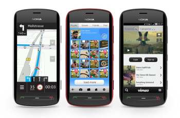 The Nokia 808 PureView runs Nokia Belle with Feature Pack 1 enhancements