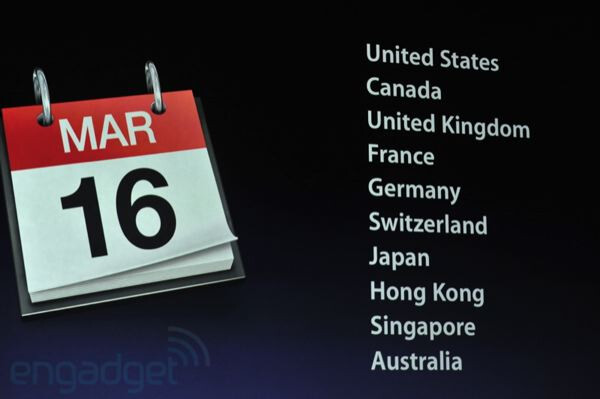 Prices of the new iPad start at $499, U.S. availability scheduled for March 16 - Apple iPad 3 is announced
