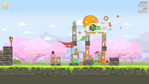 Angry Birds Seasons wants to have a hanami party