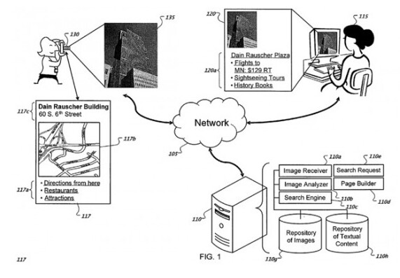 Google seeks a patent for this process - Google applies for patent that identifies your location by using a snapped photo of a landmark