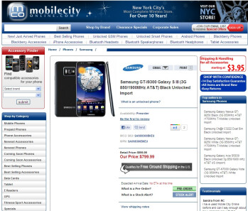 Samsung Galaxy S III up for pre-order, but not really