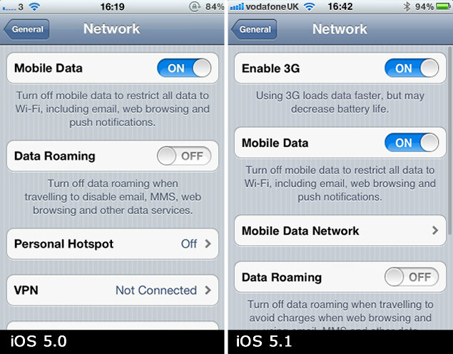iOS 5.1 brings back the option to disable 3G - iOS 5.1 brings back the option to disable 3G