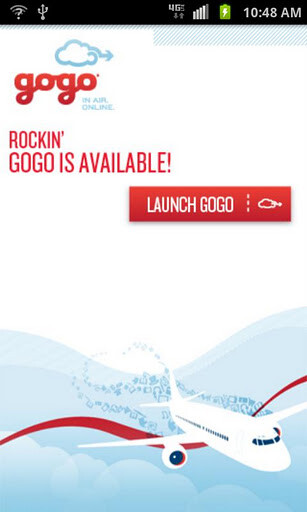 The Gogo Inflight app allows inflight internet access for Android devices