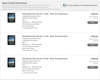 Apple clearing out original iPads – as low as $299