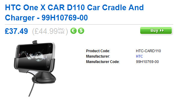 Car Dock for the HTC One X - HTC One accessories available for pre-order in the U.K.