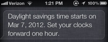 Even Siri didn't know the correct date that DST would start