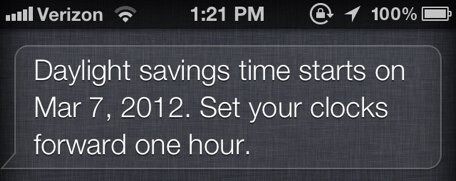 Even Siri didn't know the correct date that DST would start - Some iOS users have trouble with switch to Daylight Savings Time