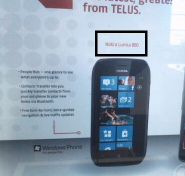 The Nokia Lumia 800 (L), Nokia Lumia 710 (C) and the mix up (R) - Future Shop turns the Nokia Lumia 800 into the Nokia Lumia 710