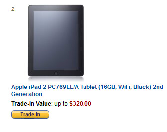 Your old Apple iPad bought by Amazon (L) ends up sold by Nimlow (R)