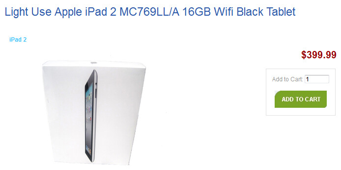 Your old Apple iPad bought by Amazon (L) ends up sold by Nimlow (R) - Amazon will give you credit for your old Apple iPad