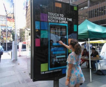 Giant interactive Nokia Lumia 800