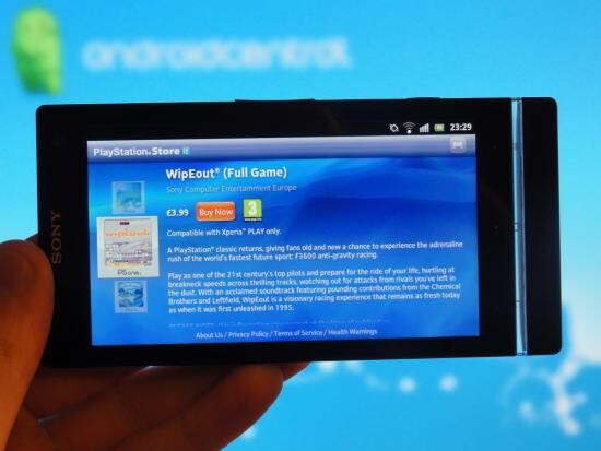 The PlayStation Store is now available on the Sony Xperia S - Sony Xperia S now has access to PlayStation store