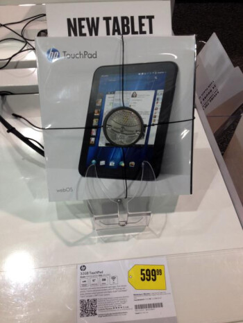 Best Buy store in California is selling the 32GB HP TouchPad at its full $600 retail price