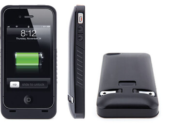 JuiceTank for the iPhone combines a protective case and wall charger into one