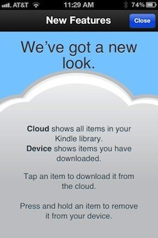 The new cloud view (L) and device view (C)